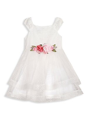48ab693037b Pippa   Julie - Baby s   Little Girl s Floral Appliqué Ballerina Dress -  saks.com