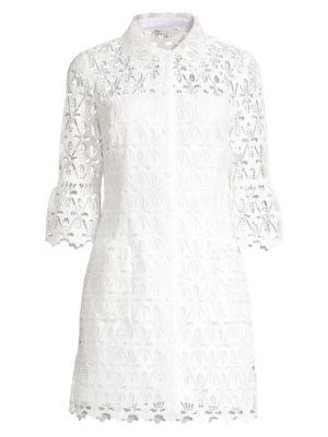 Sandro Dresses Lauretta Lace Button-Front Dress