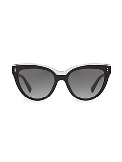 d26ae0e525002 Valentino. 54MM Two-Tone Cat Eye Sunglasses