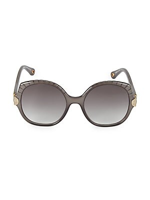 d15d5bfcd2 Chloé - 62MM Carlina Round Wire Metal Sunglasses - saks.com