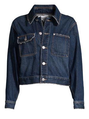 Current Elliott Jackets Sammy Distressed Denim Jacket