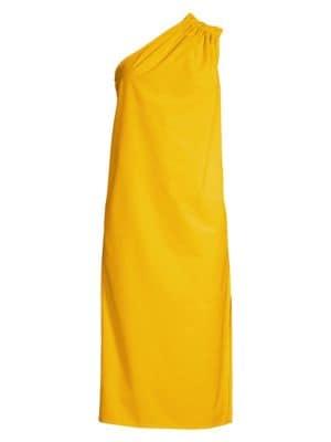 Max Mara Dresses Zigrino One-Shoulder Shift Dress