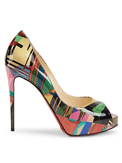 533df4090b Christian Louboutin. New Very Privé Patent Leather Peep-Toe Pumps