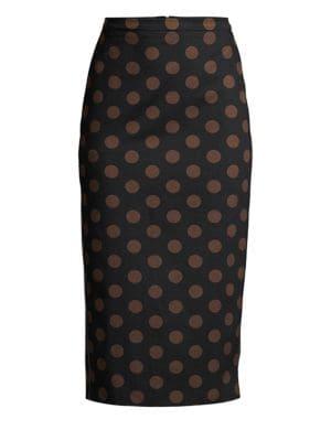 Max Mara Skirts Vata Polka Dot Pencil Skirt