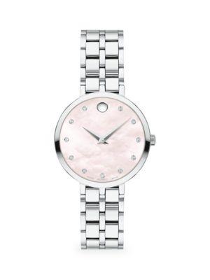 Movado Kora Diamond Stainless Steel Bracelet Watch