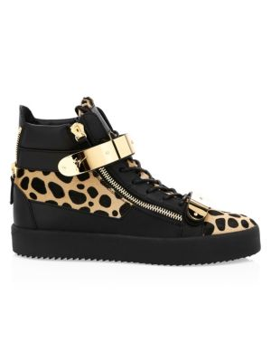 388efec08 Giuseppe Zanotti - Snake-Print Leather Low-Top Sneakers - saks.com