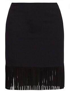 42a50c04a Akris punto. Fringe Hem Mini Skirt