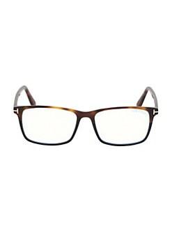 ca26f63a5a Tom Ford. Blue Block 54MM Square Glasses