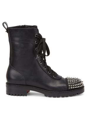 watch buy sale usa cheap sale TS Croc Studded Leather Combat Boots