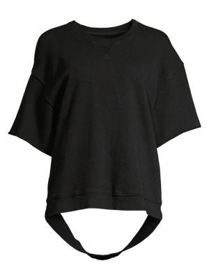 Hudson T-shirts Cut-Sleeve Distressed Sweatshirt