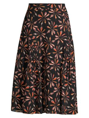 Kobi Halperin Skirts Debbie Silk Midi Skirt