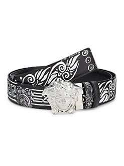 e280563c7 QUICK VIEW. Versace. Baroque Hibiscus Reversible Leather Belt
