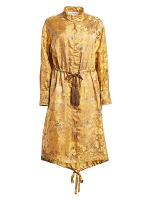 Oscar De La Renta Jackets Floral Silk Anorak Jacket