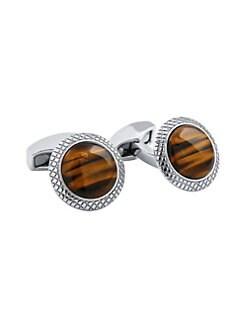 ced7d6fc5b6c QUICK VIEW. Tateossian. Bullseye Semi Precious Tiger Eye Cufflinks