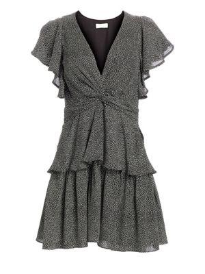 A.l.c Dresses Viera Twist Tiered Silk Dress