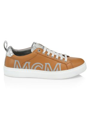 Mcm Leather Logo Platform Sneakers