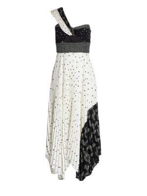 A.l.c Dresses Aurora One-Shoulder Pleated Dress