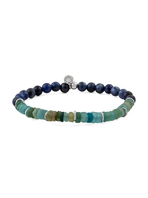 Oceana Sodalite & Roman Glass Beaded Bracelet