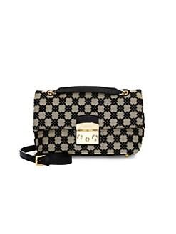 13913872c6 Furla. Metropolis Leather Trim Checker Crossbody Bag