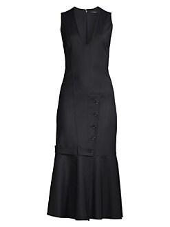 5aa145297ec0b QUICK VIEW. Derek Lam. Tailored Ruffle Sheath Dress