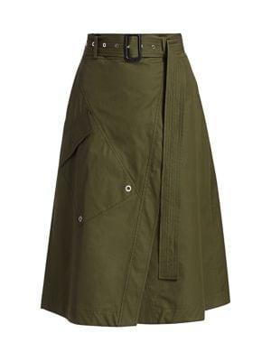 Derek Lam Skirts Belted A-Line Wrap Skirt