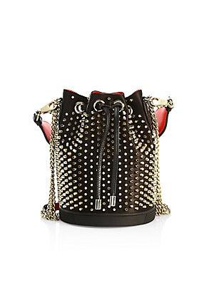 1e74539740b Christian Louboutin - Marie Jane Studded Leather Bucket Bag
