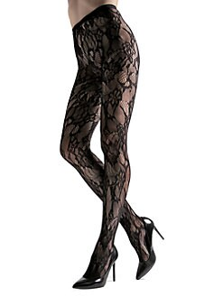 92b4c9b97b6 Natori. Cut-Out Lace Net Tights