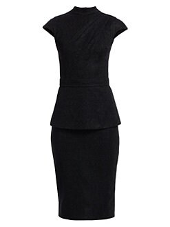 b65bd47c6a66 Safiyaa. Kennedy Mockneck Cap Sleeve Midi Dress