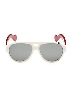 a543ad8586f9 Moncler. 57MM Rounded Aviator Sunglasses
