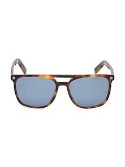 a8a623c6ffe0b Product image. QUICK VIEW. Ermenegildo Zegna. 56MM Square Tortoise  Sunglasses