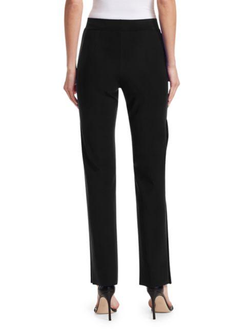 Chiara Boni La Petite Robe Veerle High-Waist Side-Snap Pull-On Pants | SaksFifthAvenue