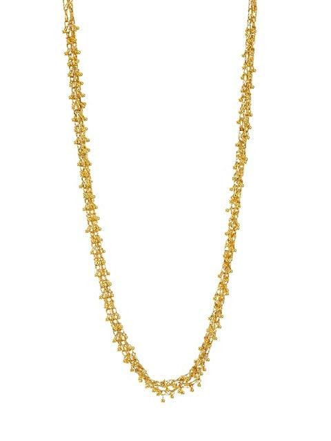 Bouclé 24K Yellow Gold Triple Chain Necklace