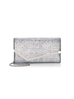 QUICK VIEW. Jimmy Choo. Emmie Metallic Leather Chain Clutch 07b9e47a6b1f7