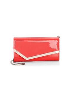 d41fcb5320 Jimmy Choo. Emmie Patent Leather Envelope Bag