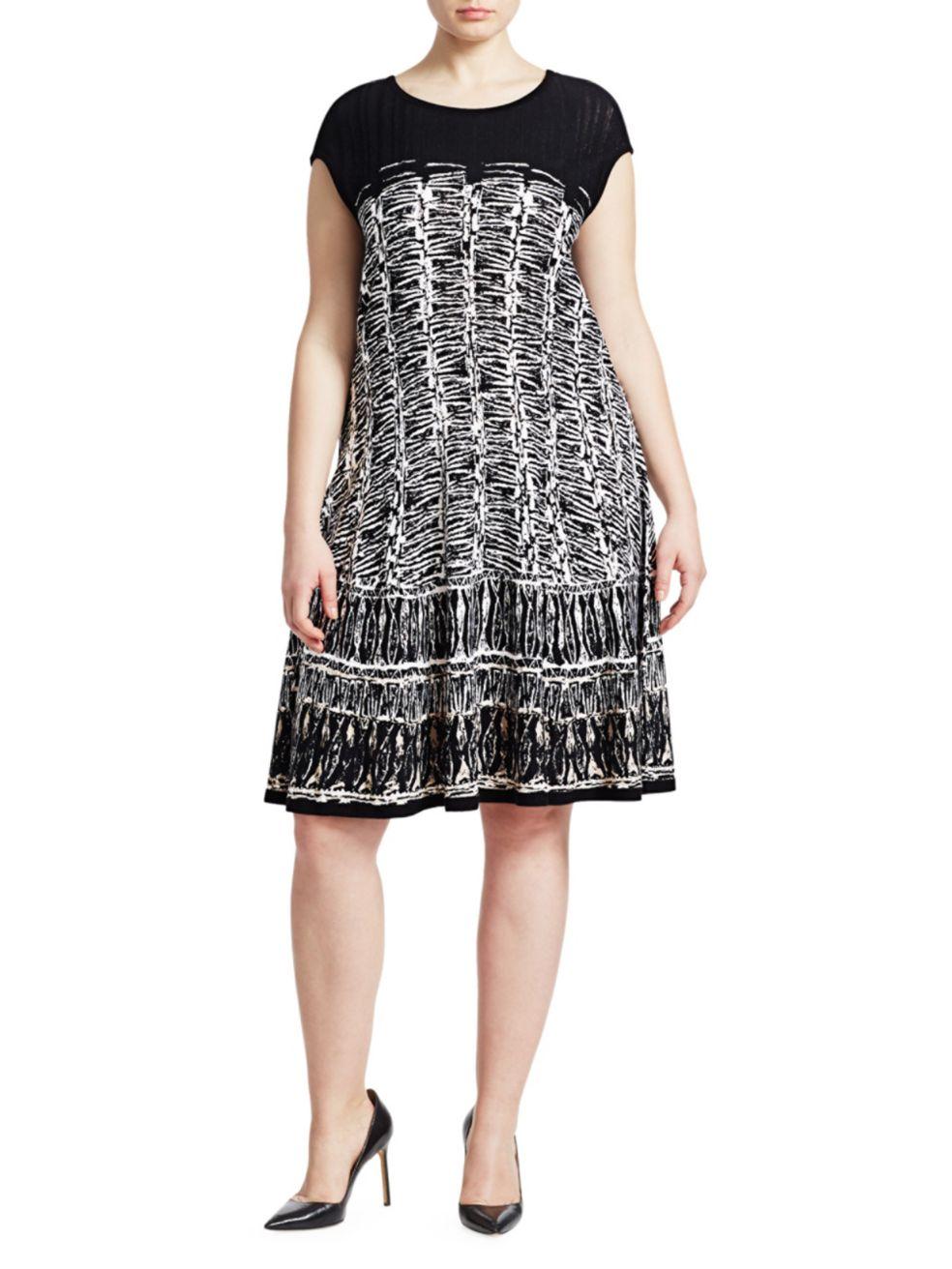 NIC+ZOE, Plus Size Garden Party Geometric Dress | SaksFifthAvenue