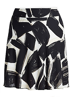f4fc785734 NIC+ZOE Plus - Nightfall Graphic Print A-Line Skirt - saks.com