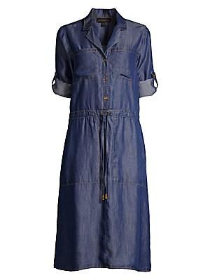 37d3c151 Donna Karan New York - Roll-Tab Sleeve Button-Front Dress - saks.com