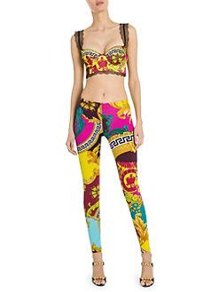 0a83fc10281 Versace. Silk Printed Bra Top