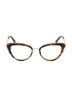 0b4eb52983 Tom Ford. 53MM Cat Eye Glasses
