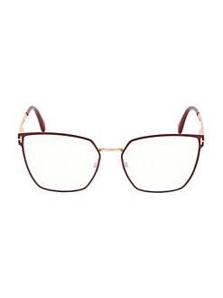 3b2b9272be QUICK VIEW. Tom Ford. 55MM Angular Metal Glasses