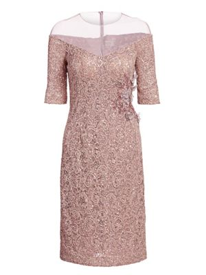 39cc74862f Illusion Mesh Lace Sheath Dress
