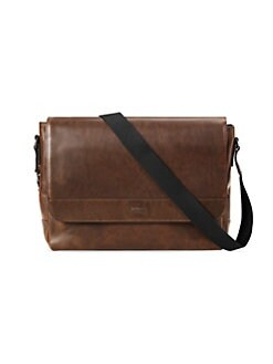 8f7229608a Shinola. Slim Leather Messenger Bag