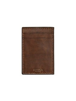 0361b98a88fc Leather Money Clip Card Wallet MEDIUM BROWN. QUICK VIEW. Product image