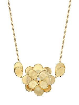 Marco Bicego - Petali 18K Yellow Gold & Diamond Flower Pendant Necklace