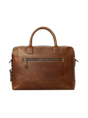 5a9c2e673 Frye - Logan Leather Slim Briefcase - saks.com