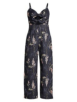 08edfd8a4cce Rebecca Taylor. Ivie Embroidered Jumpsuit