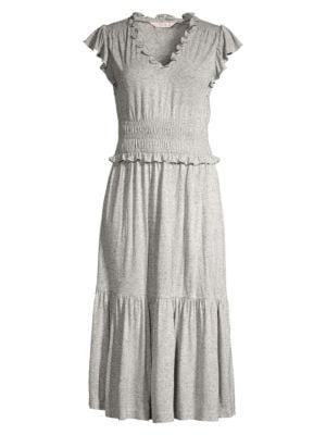 Rebecca Taylor Dresses Smocked Jersey Midi Dress