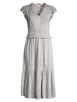74d393d774c59 QUICK VIEW. Rebecca Taylor. Smocked Jersey Midi Dress