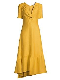 eb0f1bcde96a QUICK VIEW. Sandro. Deep-V Asymmetric Hem Dress
