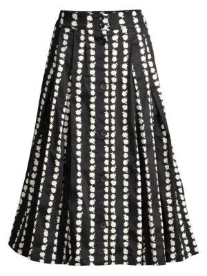 Maje Skirts Daisy A-Line Midi Skirt